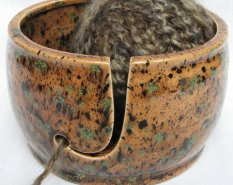 Yarn Bowl, Knitting Bowl, Ceramic