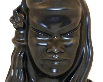 Roseville Pottery Burmese Male Black Wall Plaque 72B