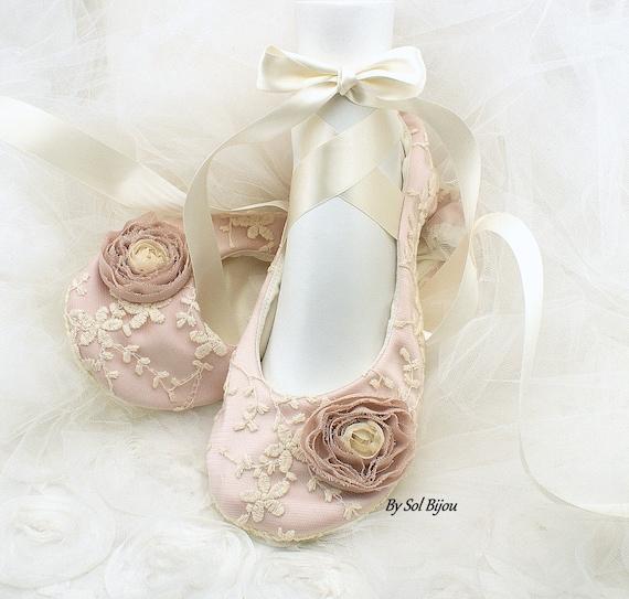 Wedding Ballet FlatsRose FlatsBlushIvoryWedding