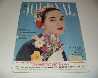 Ladies Home Journal Magazine April 1957, Vintage Ads, Paper Ephemera, Retro, Collectible