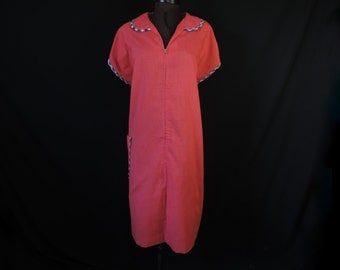1950's plus size housedress fun tulip lounge robe day dress XL 1X new old stock