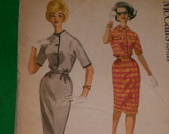 Vintage 60's Mad Men Wiggle Dress Pattern / UNCUT / Size 20