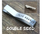 Ring Bearer Gift Tie Clip Personalized Stainless Steel Tie Bar with Date and Name Wedding Party Gift  Little Boy Gift for Ring Bearer