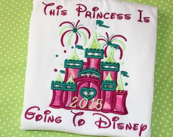 Disney World shirt or ruffle dress- This princess is going to Disney