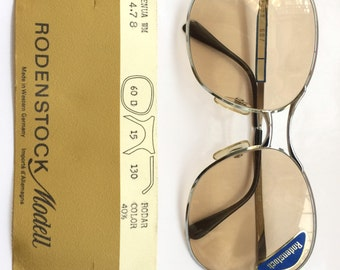 SALE 50% OFF - Rare Old School Style Rodenstock 80s Metal Sunglasses