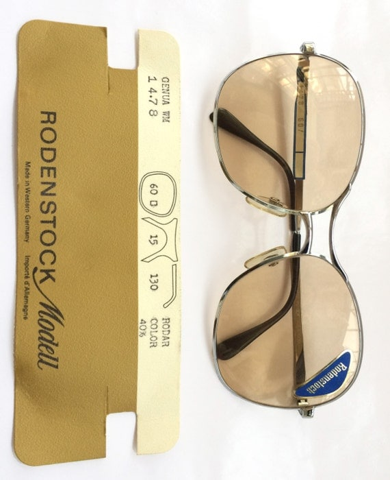 Reserve for fafa666 please don't purchase   SALE 60% OFF - Rare Old School Style Rodenstock 80s Metal Sunglasses