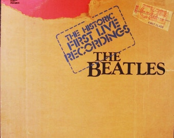 The BEATLES Historic Live First Recordings RARE 2 Lp Set Hamburg Star Club 1962 Gatefold Cover Double Album Pickwick TPT-2098  Beatlemania