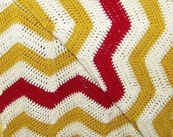 Baby Blanket - Crochet Chevron Blanket - Crochet Baby Afghan - Hand Crochet Baby Afghan - Baby Photo Props - Newborn Photography Props