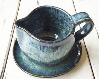 Gravy Boat in Handmade, Pottery Gravy Boat