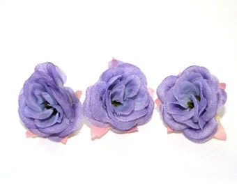 9 Baby Lavender Roses - Artificial Flowers, Silk Roses