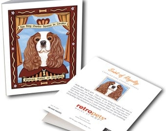 """Cavalier King Charles Cards """"Saint of Royalty"""" 6 Small Greeting Cards by Krista Brooks"""