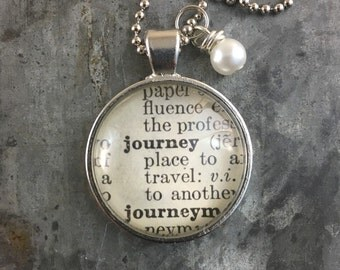 Dictionary Word Necklace - Journey