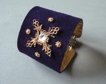 Deep Purple Suede Cuff