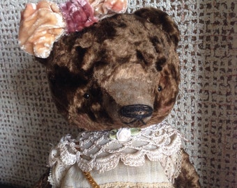 HOT JULY SALE 11 inch Artist Handmade Plush Teddy Bear Maria by Sasha Pokrass