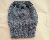 Custom Order for R.S - Geometric Gray and Black Knitted Hat