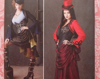 Plus Size Steampunk Cosplay Costume Sewing Pattern UNCUT Simplicity 1819 Sizes 14-22