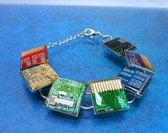 Rainbow circuit board bracelet