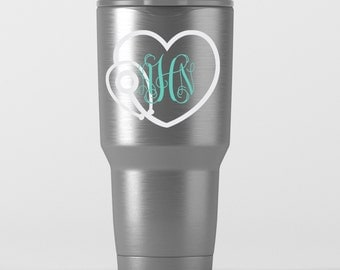 Medical Nurse Doctor Monogram Decal for Tumblers - Yeti, RTIC, Ozark Trail and More