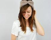 BLACK FRIDAY SALE Knit Turban Headband Women Chunky Knit Earwarmers // The Turban // Barley