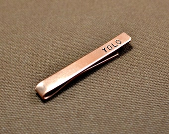 You only live once copper tie bar aka YOLO - TB936