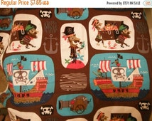 Pirate Fabric --Hard Find -- 40-70% off Patterns n Books SALE