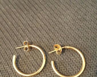 Gold, Pierced Earrings