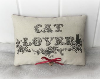 Cat Lover Primitive Pillow Tuck