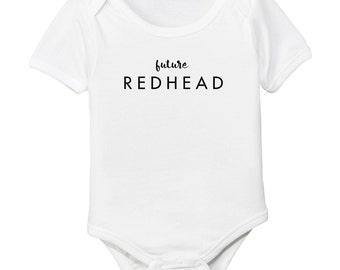 Future Redhead Red Head Organic Cotton Baby Girl Bodysuit