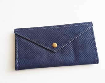 blue snake texture  wallet , leather  women wallet , women purse