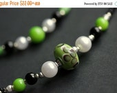 VALENTINE SALE Eyeglass Lanyard or Badge Holder. Green Lanyard Glasses Lanyard. Clover Lanyard Eyeglass Necklace. Id Lanyard Beaded Lanyard.