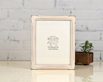 "8x10"" Picture Frame in Shallow Bones Style with Vintage White Finish - Can Be Any Color - Handmade 8x10 Photo Frame - Wooden Frame 8 x 10"