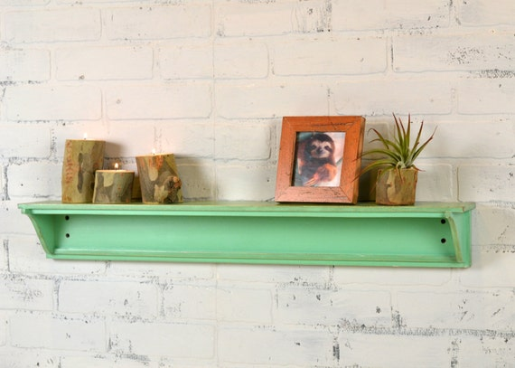Handmade 30-inch Long One Level Wall Shelf in Color OF YOUR CHOICE - Wooden Display Shelf - Sturdy Handmade Storage Shelves
