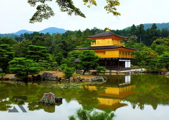 Kinkakuji (Golden Pavilion) Temple in the Summer (Photography Print)