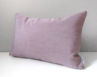 Mauve Pillow Cover, Decorative Outdoor Pillow Case, Purple Heather Throw Pillow Cover, Lilac Dusk Sunbrella Outdoor Cushion Cover, Mazizmuse