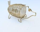 Golden Pig Mail Holder