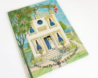 Vintage 1970s Childrens Book / Miss Jaster's Garden by N. M. Bodecker 1972 VGC Hc / HTF First Edition Big Golden Book