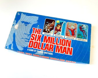 Vintage 1970s Board Game / Parker Brothers The Six Million Dollar Man 1975 Complete