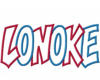 Instant Download Lonoke 2 Color Embroidery Machine Applique Design 4410
