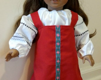 18 inch doll Russian Costume, International Costume, for American Girl Doll