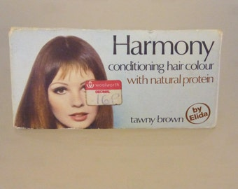 Vintage box of Harmony tawny brown hair dye