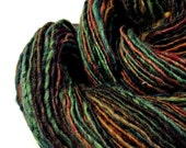 "Handspun Wool Yarn, Hand Dyed Yarn, ""The Deep"" Single Ply BFL Yarn"