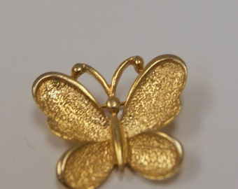 Vintage 1970s Sarah Coventry Butterfly Brooch or Pendant
