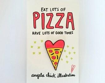 Pizza Lover Enamel Pin Badge