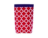 Car Trash Bag, RED QUATREFOIL Riley Blake, Women, Men, Car Litter Bag, Auto Accessories, Auto Bag, Car Organizer, Craft Bag