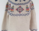 Vintage 80s Snowflake Christmas Sweater Not Ugly