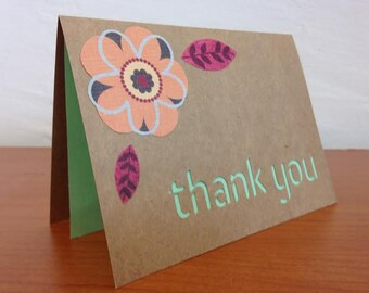 Thank You - kraft paper cut out card