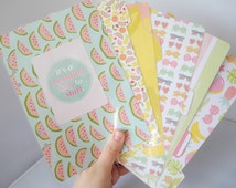 Tropical A5 Planner Divider & Dashboard Set - Filofax / Kikki K -  Punched and Laminated!!
