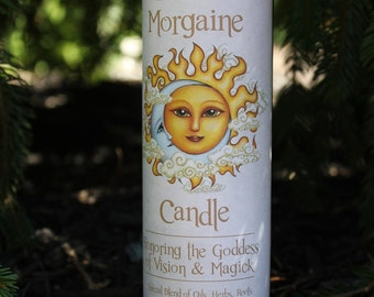 Goddess Morgaine, Morgan Le Fey  7 Day Fixed Spell Candle Healing Magick, Glamoury Magick, Faery Magick