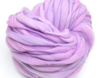 Thick and thin super bulky yarn in hand dyed merino wool - 50 yards and 2.85 ounces/81 grams