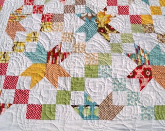 Modern Boho Road to Oklahoma Lap Quilt